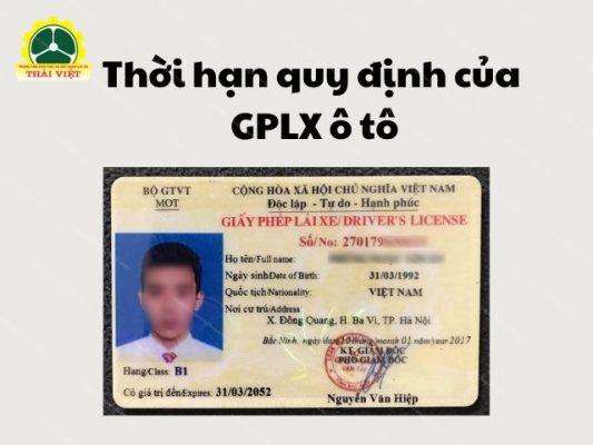 Thoi-han-quy-dinh-cua-GPLX-o-to